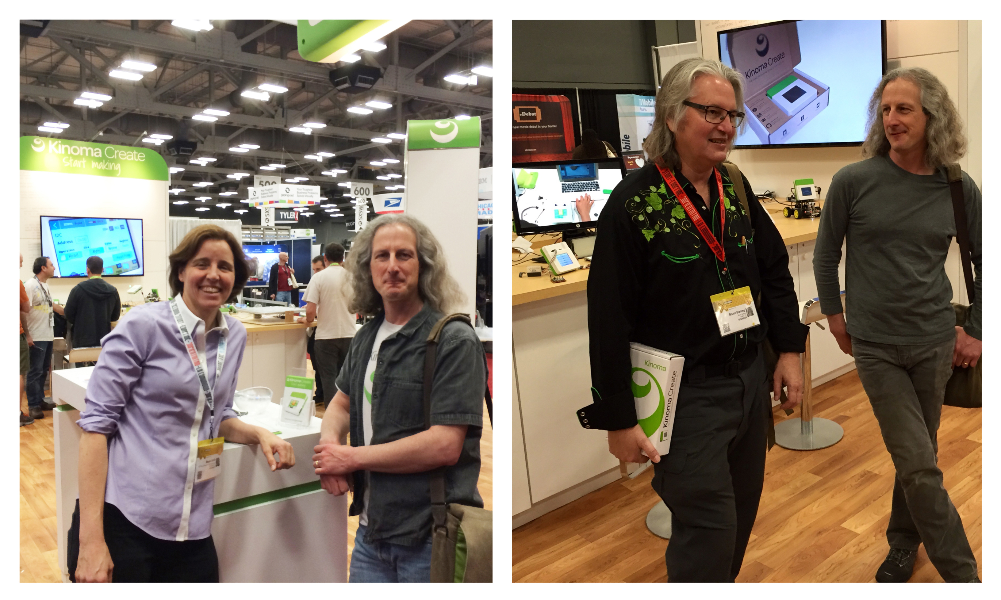 Megan Smith and Bruce Sterling PicFrame